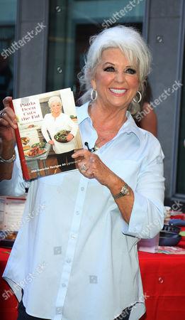 Paula Deen with her book 'Paula Deen Cuts the Fat'