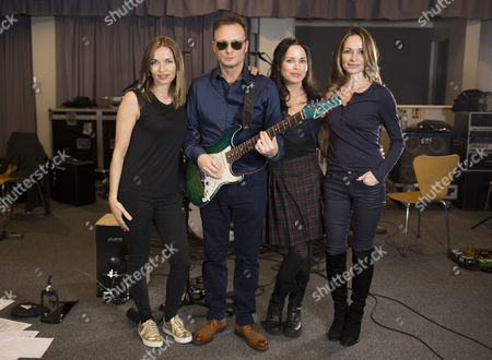 The Corrs from L-R Caroline Corr, Jim Corr, Andrea Corr and Sharon Corr photographed at a recording studio