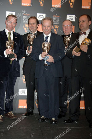 The team behind 'Wallace and Gromit: Curse of the Were Rabbit' - Steve Box, David Sproxton, Nick Park, Mark Burtons and Bob Baker
