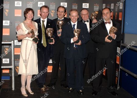 The team behind 'Wallace and Gromit: Curse of the Were Rabbit' - Claire Jennings, Steve Box, David Sproxton, Nick Park, Mark Burtons and Bob Baker