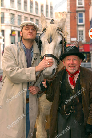 Editorial image of NEW COMEDY 'STEPTOE AND SON, MURDER AT OIL DRUM LANE' PROMOTION  AT COMEDY THEATRE, LONDON, BRITAIN - 21 FEB 2006