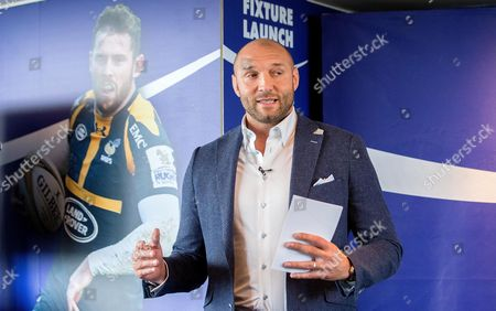 BT Sport pundit Ben Kay speaks at the Aviva Premiership fixture launch