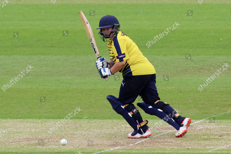 Charlotte Taylor in batting action for Hampshire during Hampshire Women vs Essex Women, NatWest Women's County T20 Cricket at the Ageas Bowl on 8th July 2016