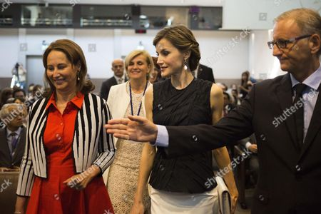 French Environment Minister Segolene Royal, WHO Public Health Director, Maria Nera, Spain's Queen Letizia and French Junior Minister for Development and Francophonie, Andre Vallini