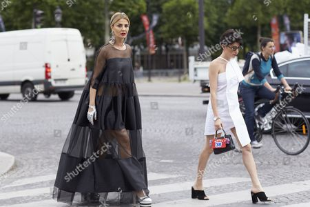 Editorial image of Street Style, Autumn Winter 2016, Haute Couture Fashion Week, Paris, France - 05 Jul 2016