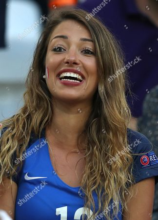 Camille Sold the girlfriend of Morgan Schneiderlin of France during the UEFA Euro 2016 Semi Final match between Germany and France played at the Stade Velodrome, Marseille, France on July 7th 2016