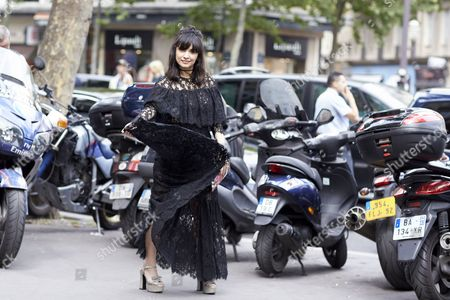 Editorial image of Street Style, Autumn Winter 2016, Haute Couture Fashion Week, Paris, France - 06 Jul 2016