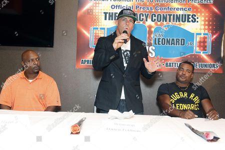 Ray Leonard Jr, Marvin Hagler Jr and Damon Feldman
