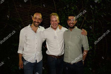 Philip Arditti, Bobby Delaney and Beruce Khan