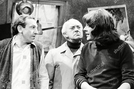 Stock Image of Leonard Rossiter, Richard Beckinsale, George A. Cooper (Season 2, Episode 1 - The Permissive Society)