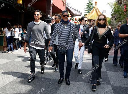 Jaafar Jackson, Jermaine Jackson with rumoured new girlfriend Havana, Jermajesty Jackson