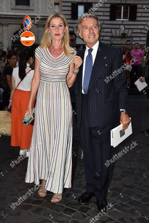 Stock Picture of Ludovica Andreoni and Luca Cordero Di Montezemolo