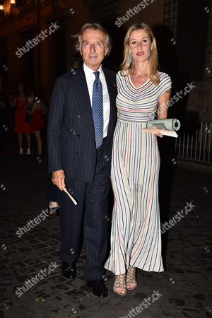 Stock Photo of Luca Cordero Di Montezemolo and Ludovica Andreoni
