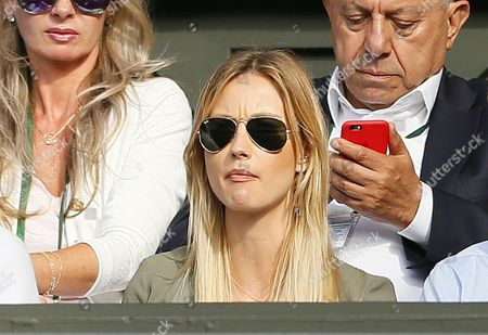 Ester Satorova wife of Tomas Berdych looks on during day twelve of the 2016 Wimbledon Championships at the All England Lawn Tennis Club, Wimbledon, London on the 8th July 2016