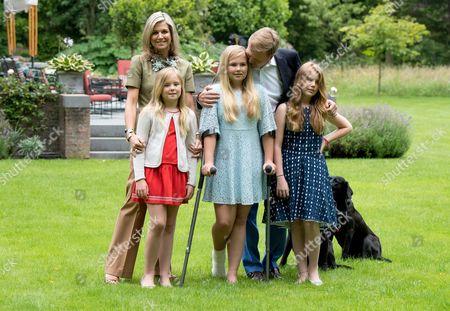 Queen Maxima, Princess Ariane, Crown Princess Catharina-Amalia, King Willem-Alexander and Princess Alexia