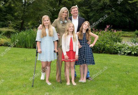 Crown Princess Catharina-Amalia, Queen Maxima, King Willem-Alexander, Princess Ariane, Princess Alexia