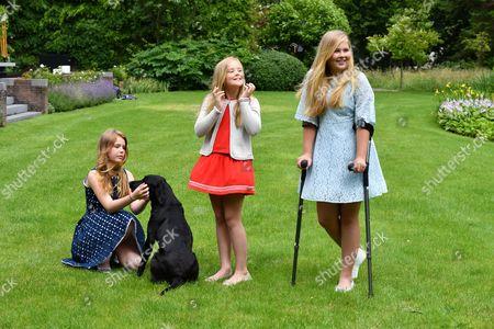 L-r: Princess Alexia, Crown Princess Catharina-Amalia, Princess Ariane