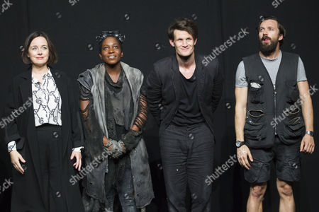 Amanda Drew (Anastasia), Tamara Lawrance (Natasha), Matt Smith (Maxim) and Richard Pyros (Carl) during the curtain call