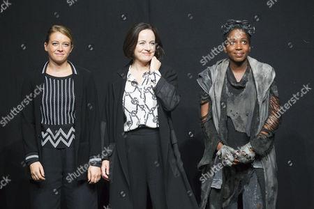 Genevieve Barr (Eva), Amanda Drew (Anastasia) and Tamara Lawrance (Natasha) during the curtain call