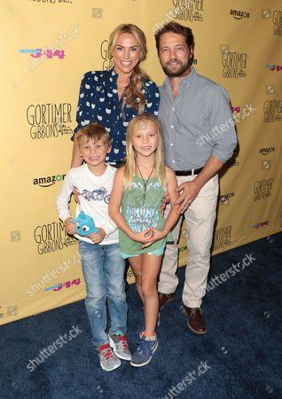 Jason Priestley, wife Naomi Lowde-Priestley and kids