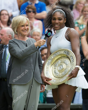 Sue Barker interviewed Serena Williams (USA)