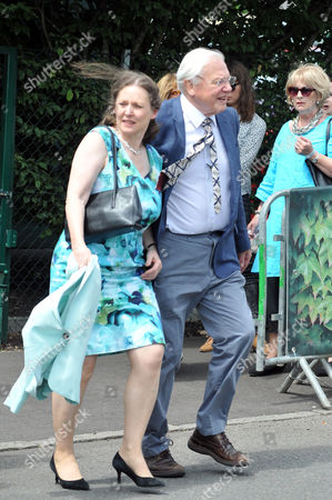 Stock Photo of Sir Richard Attenborough with daughter Susan arrives for the ladies singles final.