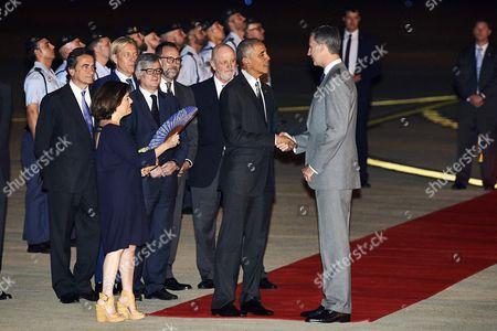 King Felipe VI of Spain, President Barack Obama, Soraya Saenz de Santa Maria