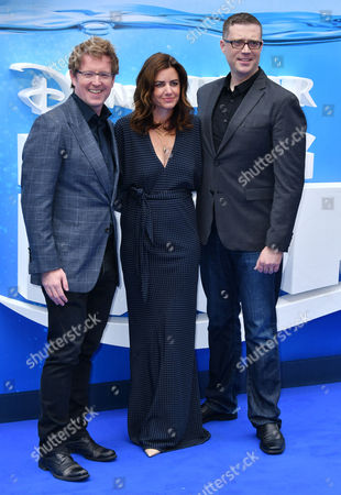 Director Andrew Stanton, Co-Director Angus MacLane, Producer Lindsey Collins