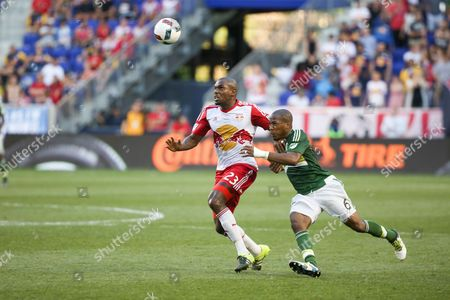 Editorial photo of New York Red Bulls v Portland Timbers MLS soccer match, Harrison, New Jersey - 10 Jul 2016