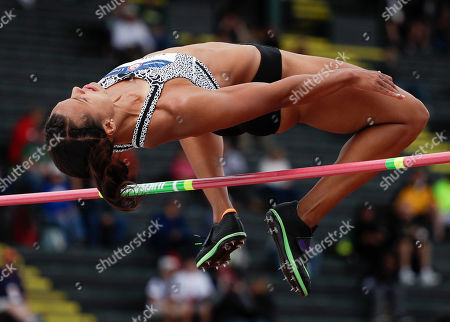 Chantae McMillan competes during the heptathlon high jump at the U.S. Olympic Track and Field Trials