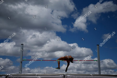 Stock Photo of Chantae McMillan competes during the heptathlon high jump at the U.S. Olympic Track and Field Trials