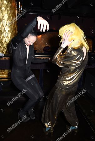 Stock Photo of Lucy Newman and Pam Hogg