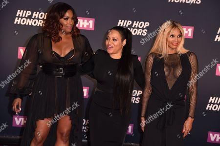 DJ Spinderella, Cheryl Wray and Sandra Denton