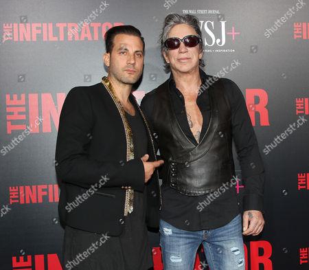 Brad Furman (Director) and Mickey Rourke