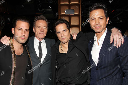 Brad Furman, Bryan Cranston, Yul Vazquez and Benjamin Bratt at the after party