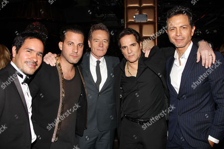 Juan Cely, Brad Furman, Bryan Cranston, Yul Vazquez, Benjamin Br at the after party
