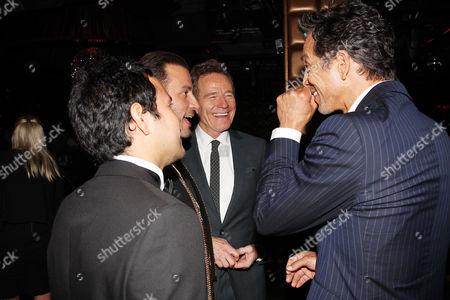 Juan Cely, Brad Furman, Bryan Cranston and Benjamin Bratt at the after party