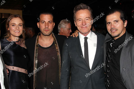Diane Kruger, Brad Furman, Bryan Cranston and John Leguizamo at the after party