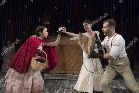 Emily Young as Little Red, Liz Hayes as Stepmother, Noah Brody as Wolf,
