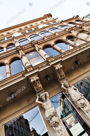 Stock Photo of Facade, Julius Meinl am Graben, Vienna, Austria