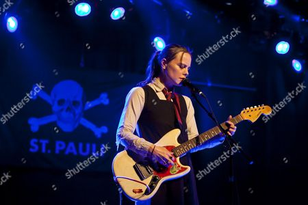 Stock Picture of British singer and musician Emma Louise Niblett, known as Scout Niblett, performing live in the Schueuer concert hall, Lucerne, Switzerland