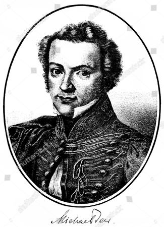 Historical print, engraving, portrait of Michael Beer, 1800-1833, German playwright of Jewish origin, from Bildatlas zur Geschichte der Deutschen Nationalliteratur by Gustav Koennecke, picture atlas, 1887