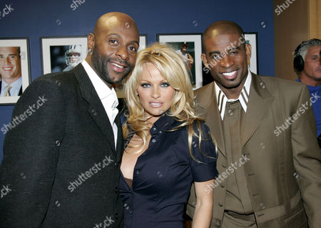 Jerry Rice, Pamela Anderson and Dion Sanders
