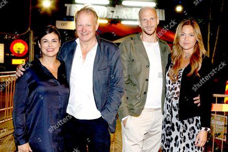 Stellan Skarsgard and wife Megan Everett, Gustaf Skarsgard and girlfriend Caroline Sjöstrand