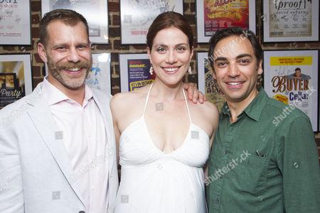Noah Brody (Director/Wolf/Cinderella's Prince), Jessie Austrian (Baker's Wife) and Ben Steinfeld (Director/Baker)
