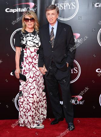 Stock Picture of Heather Albert and Marv Albert