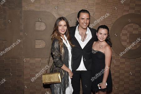 Claudia Alvarez, Billy Rovzar and Alexandra Rovzar