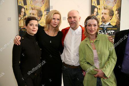 Sandra Ceccarelli, Veronica Ferres, John Malkovich and Aglaia Syszkowitz