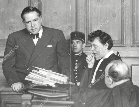 Editorial image of Alexandre Fink In Court With His Barrister French Female Lawyer Renee Jardin. Fink Is Standing Trial In France Accused Of Defrauding A Wealthy Scotsman. For Full Caption See Version. Box 663 727011622 A.jpg.