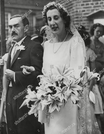 Editorial photo of Wedding Of Harry Blake Tyler And Rosemary Wilson At The Old Church Chelsea. Box 663 927011642 A.jpg.
